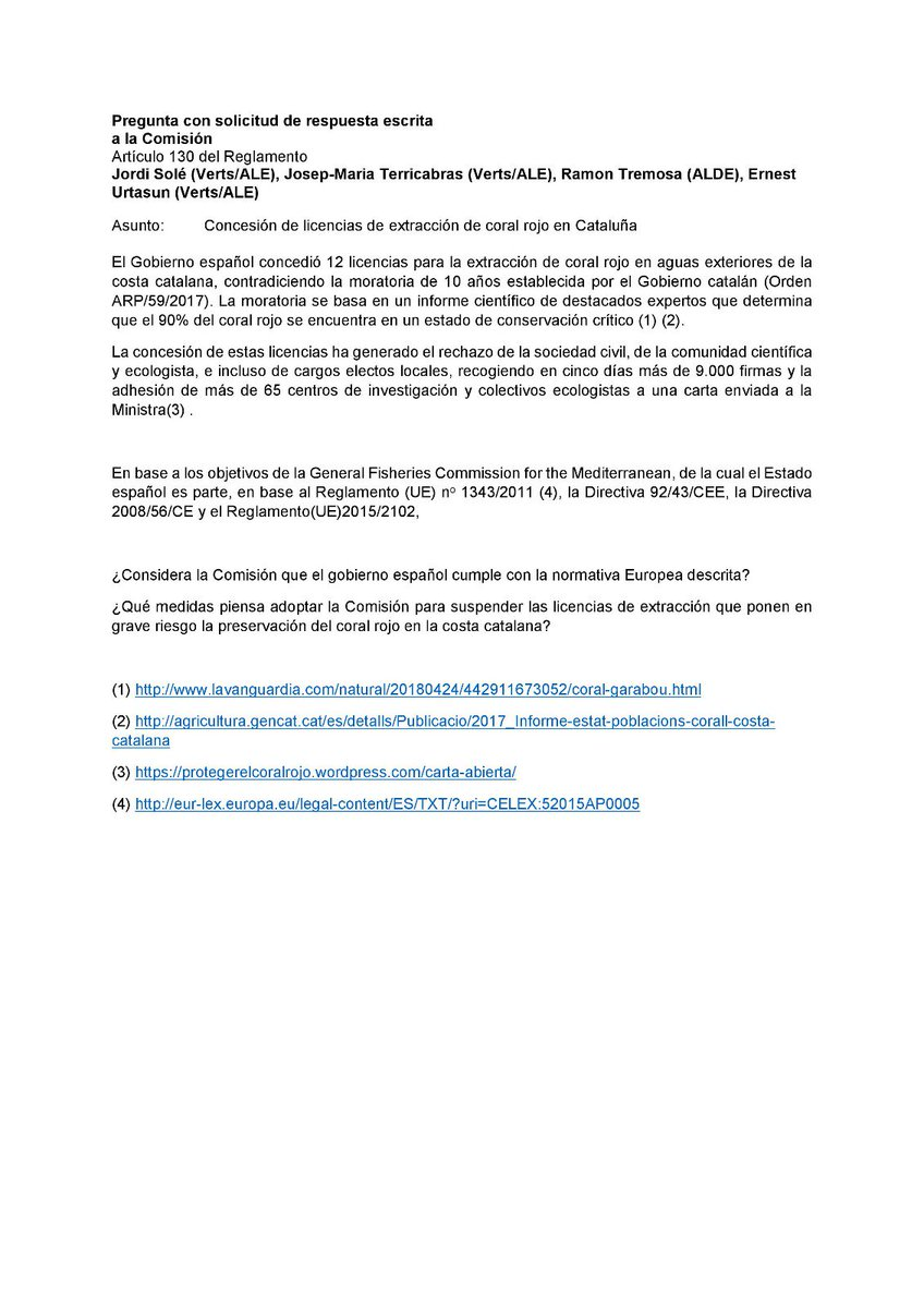 Josep M Terricabras On Twitter Comissioner KarmenuVella We Encourage You To Discuss With Spanish Minister Mapamagob The Withdrawal Of 10 Years Ban