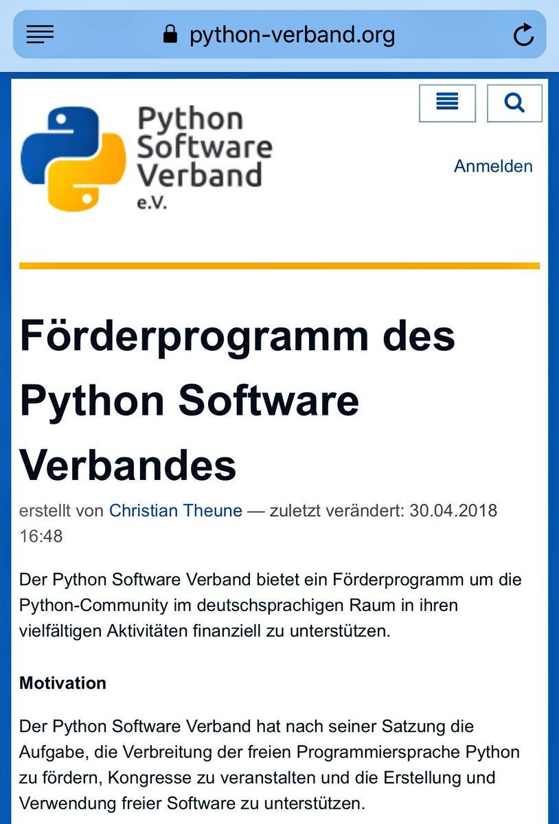 Python SV e.V. on Twitter: \