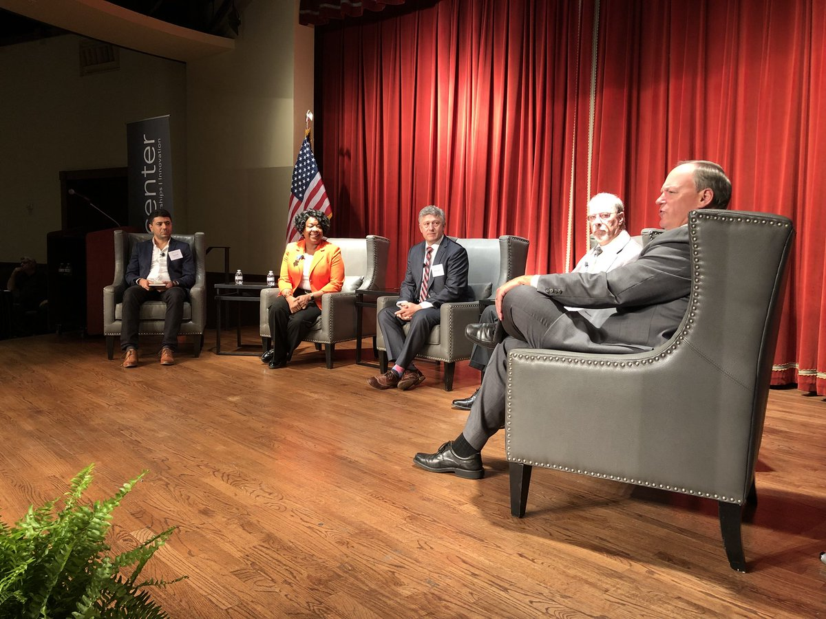 The conversation at the EPIcenter summit shifts to grid resliency during a panel discussion with four experts #satxresilience #SATX<br>http://pic.twitter.com/u5RaxCjE8v