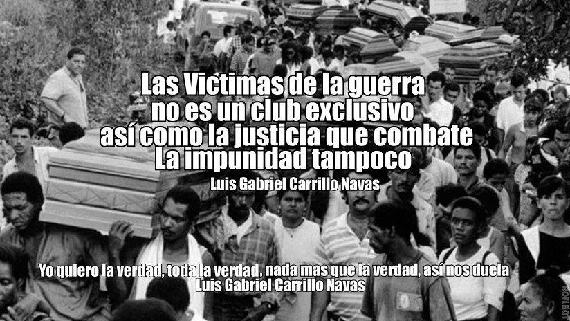 """@IvanDuque @SOFIAGAVIRIAC @herbinhoyos #MananasBLU #DuqueEsEsperanza #DuquePresidente @SOFIAGAVIRIAC @CorpoRosaBlanca @herbinhoyos """"Las Víctimas de la guerra no es club exclusivo, así como la justicia que combate la impunidad tampoco"""" Luis Gabriel Carrillo Navas @lacoutu @MargaritaRepo @diana_giraldo1 @davidCalonge3 https://t.co/CefsG3WvcK"""