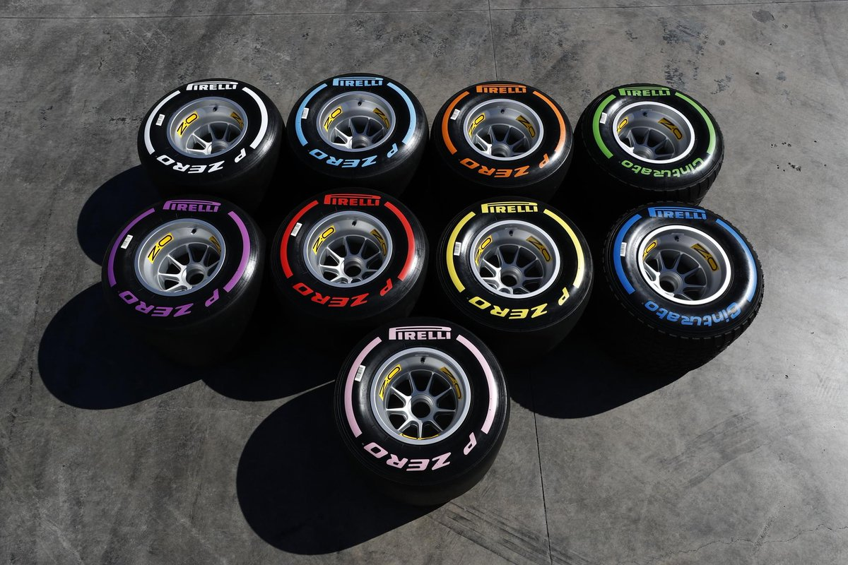Selected tyres for Spanish GP