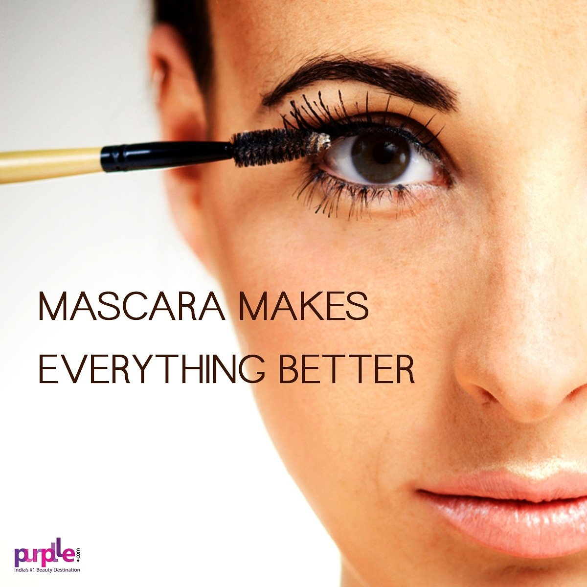 5eadabac3ad Trust us, mascara makes everything better! So pull out your favorite mascara  and glam up your lashes. #eyes #mascara #beautymotivation #letspurplle  #beauty ...