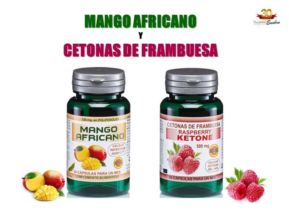 Cetonas de frambuesa y mango africano dr simi