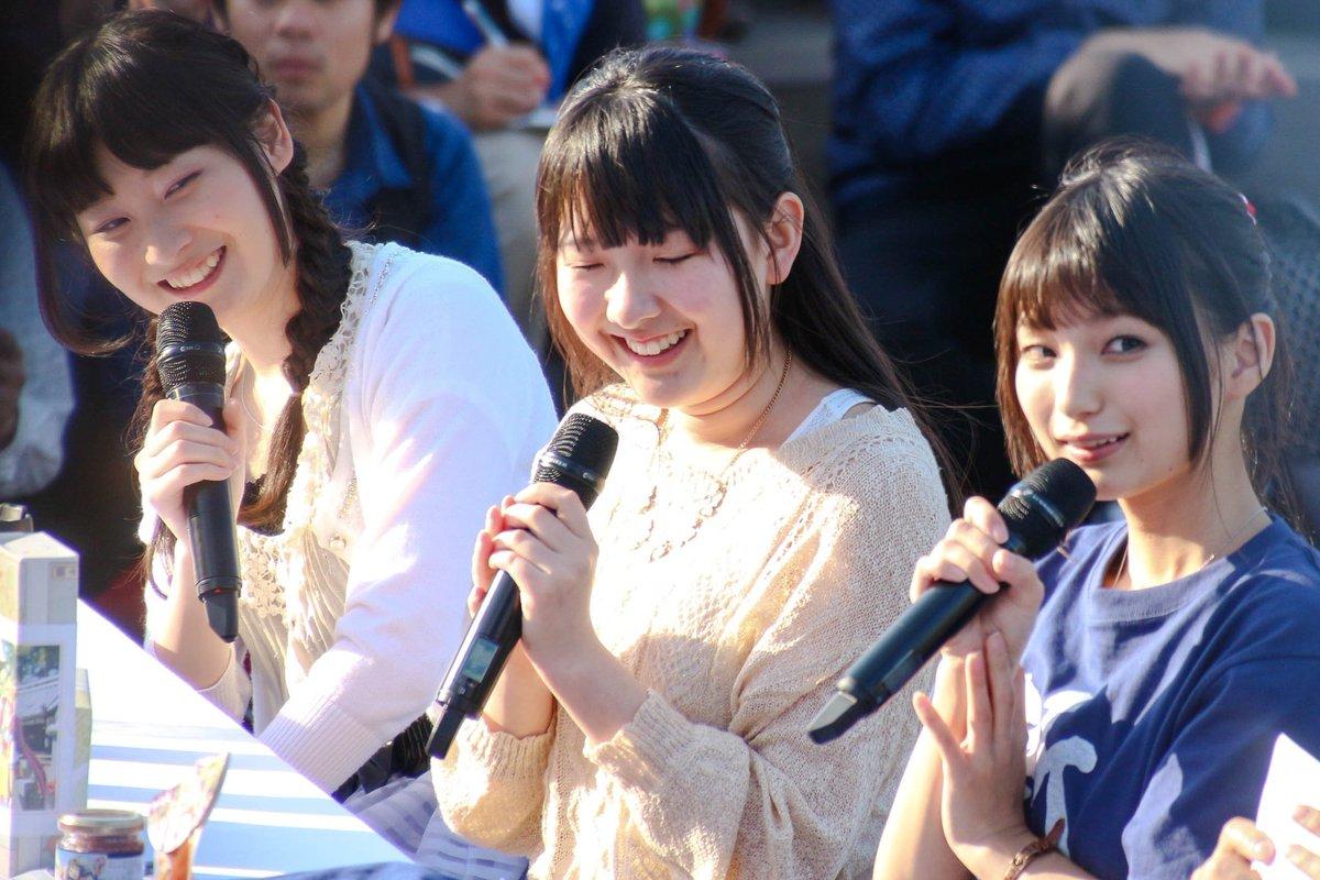 4年前の今日撮った山下七海さんと高野麻里佳さん、江原裕理さんの写真です