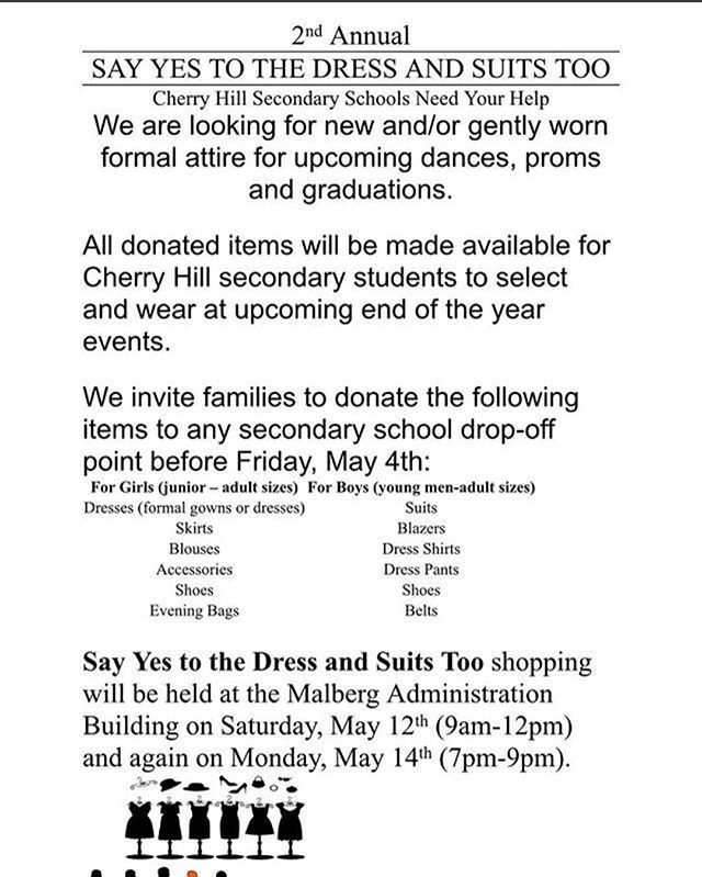 Cherry hill schools on twitter today is the final day to donate to new gently used formalsemi formal wear accessories may be dropped off at all 3 middle schools high schools east west or the malberg administration stopboris Choice Image