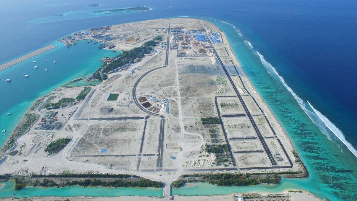 фото острова хулхумале сверху крупных городах