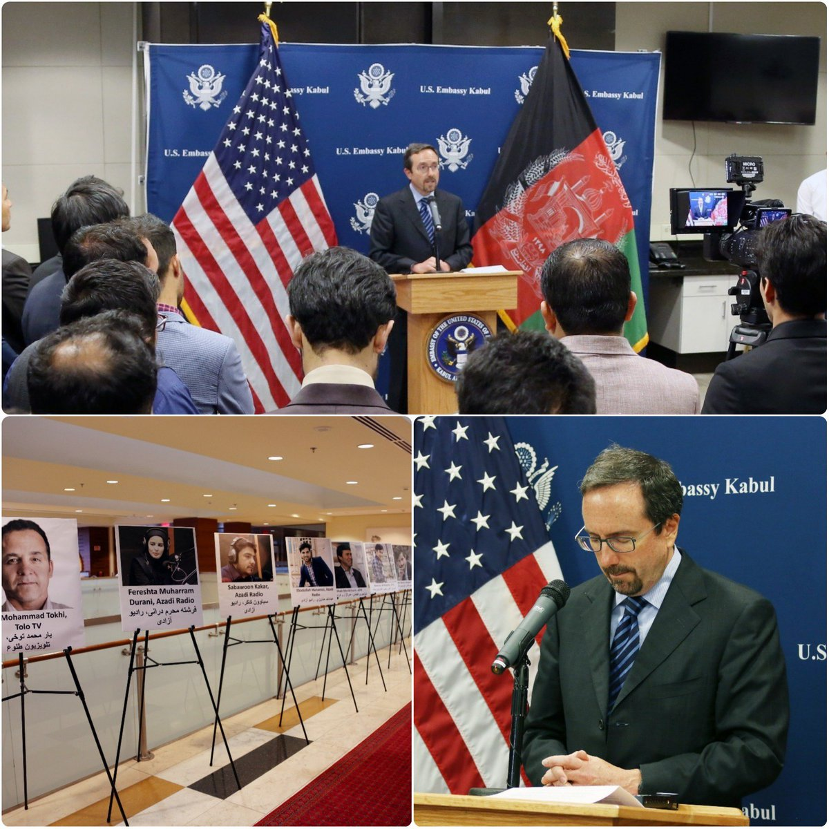 I was honored to host a World Press Freedom Day reception for the brave journalists in #Afghanistan who fight each day to bring us the truth.  Thank you to you all for your tireless and honest reporting in the face of many challenges and dangers. #WPFD2018 #USAfghanPartnership