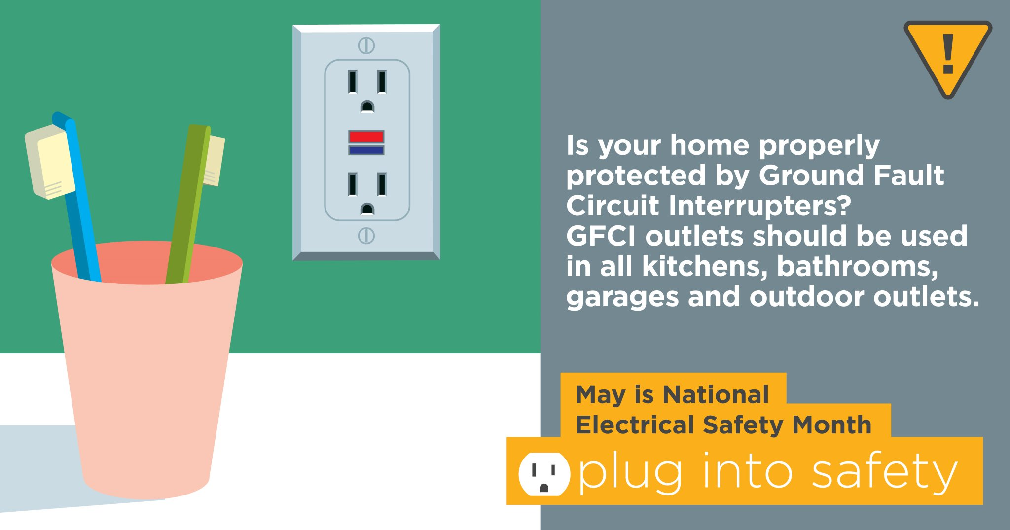 Living With Energy On Twitter Make Sure To Install And Use Gfci Ground Fault Circuit Interrupter Outlet Safe Household Outlets Near Faucets Outdoors Avoid Shock Hazards