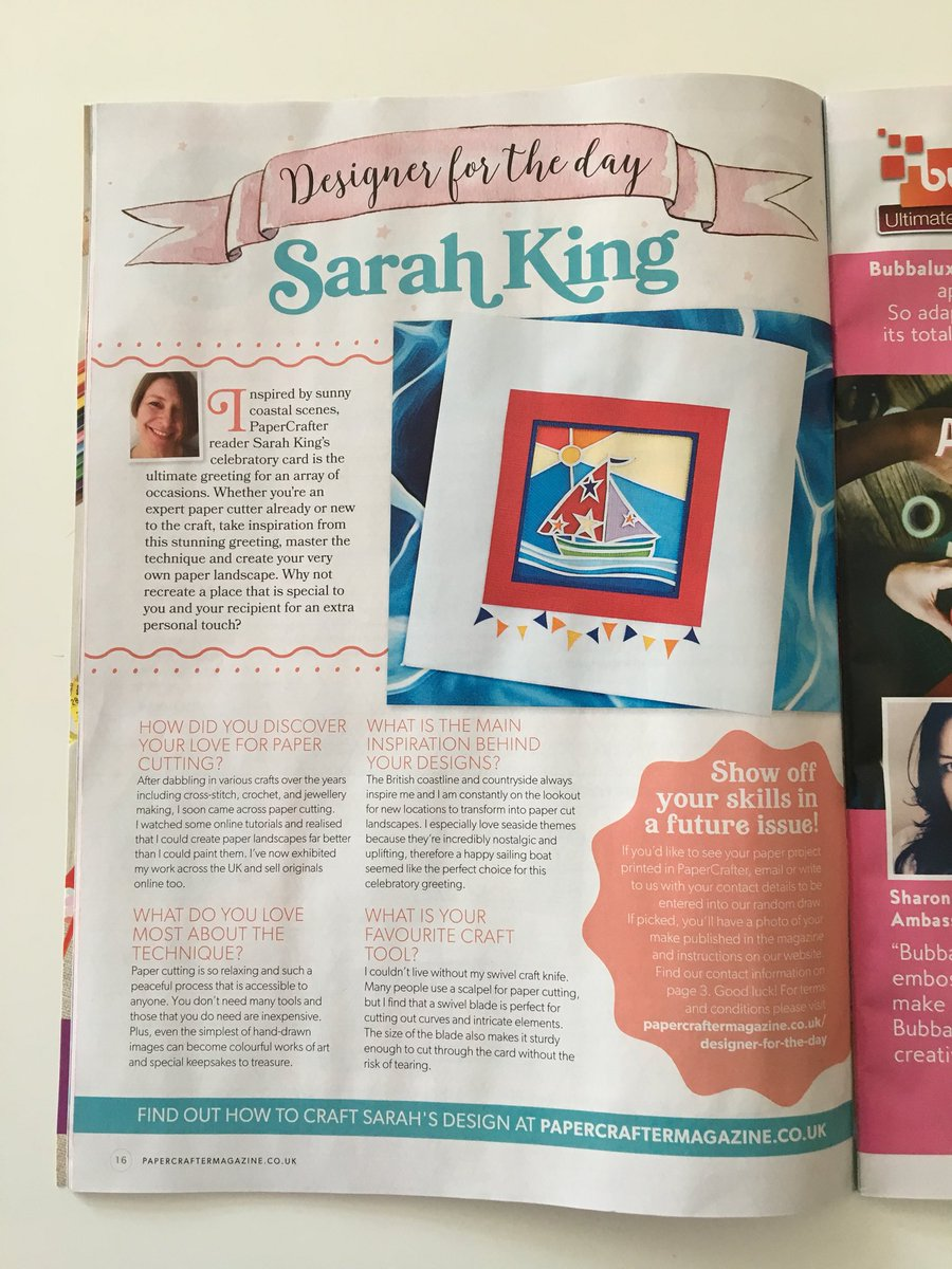 Sarah King On Twitter My Simple Jolly Sailing Boat Card Made It