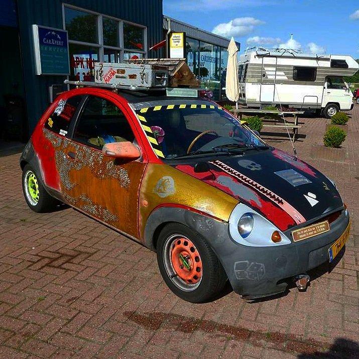Ford Fordka Ka Steel Steelies Blueoval Modified Custom Customised Customisedcar Unique Rust Rusty Rat Ratstyle Ratlook Ratrod Sticker