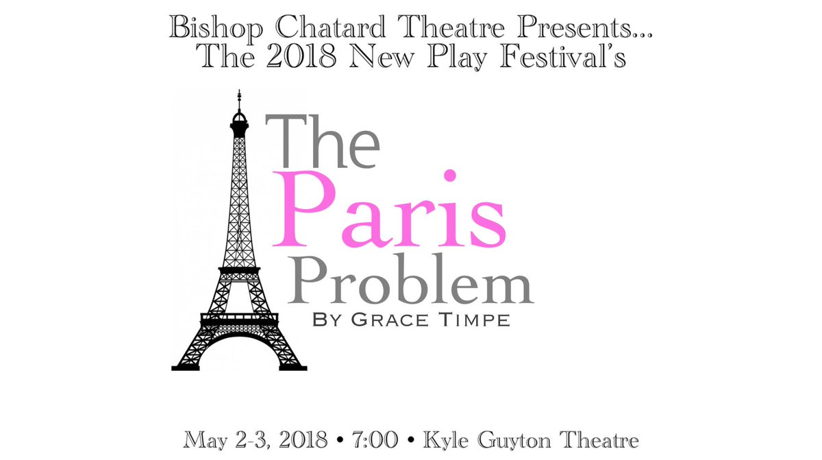 "test Twitter Media - Only 40 Tickets remain for our 2018 New Play Festival! Don't miss your chance to experience ""The Paris Problem"" and 5 other student-written productions! Remaining tickets will be sold at the door. https://t.co/nr4tZaZ1FP"