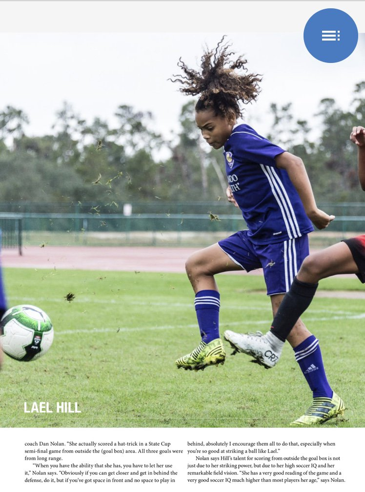 Check Out Lael Hill In Florida Youth Soccer Associations Upper90 Magazine Bookshelfupper90magazine Reader 14813 Default