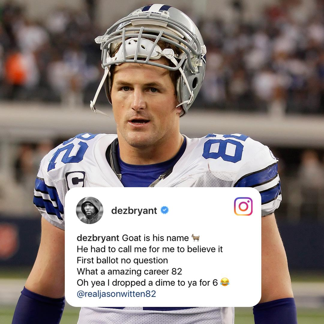 656809124 Dak and Dez wishing their best to the all-time great Jason Witten.pic. twitter.com pjYveljPuI