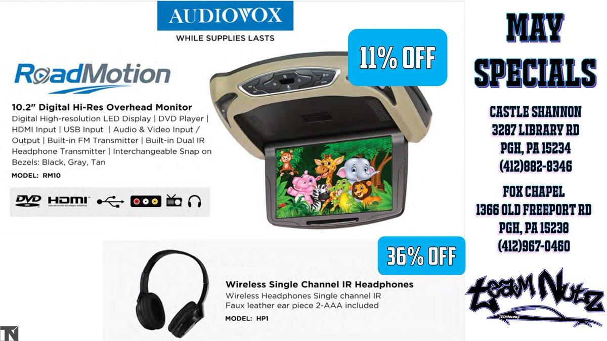 Single Channel Audiovox HP1 Wireless Headphones IR Faux Leather Ear Piece