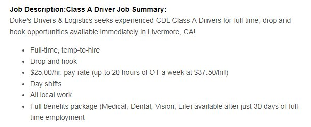dukes drivers and logistics livermore ca