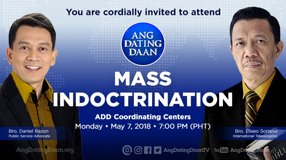 Ang dating daan mass indoctrination paanyaya ng