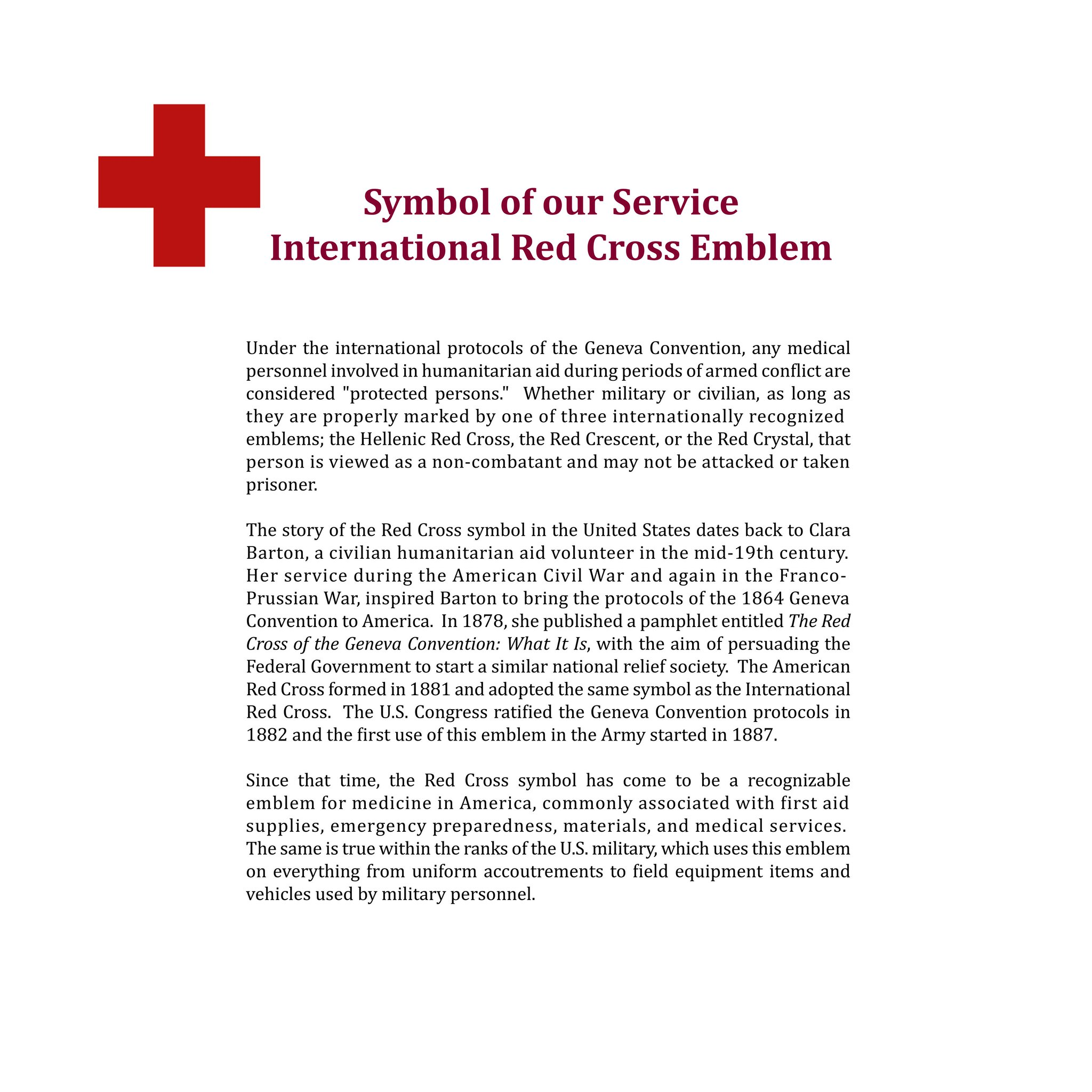 Amedd Museum On Twitter Symbol Of Our Service International Red