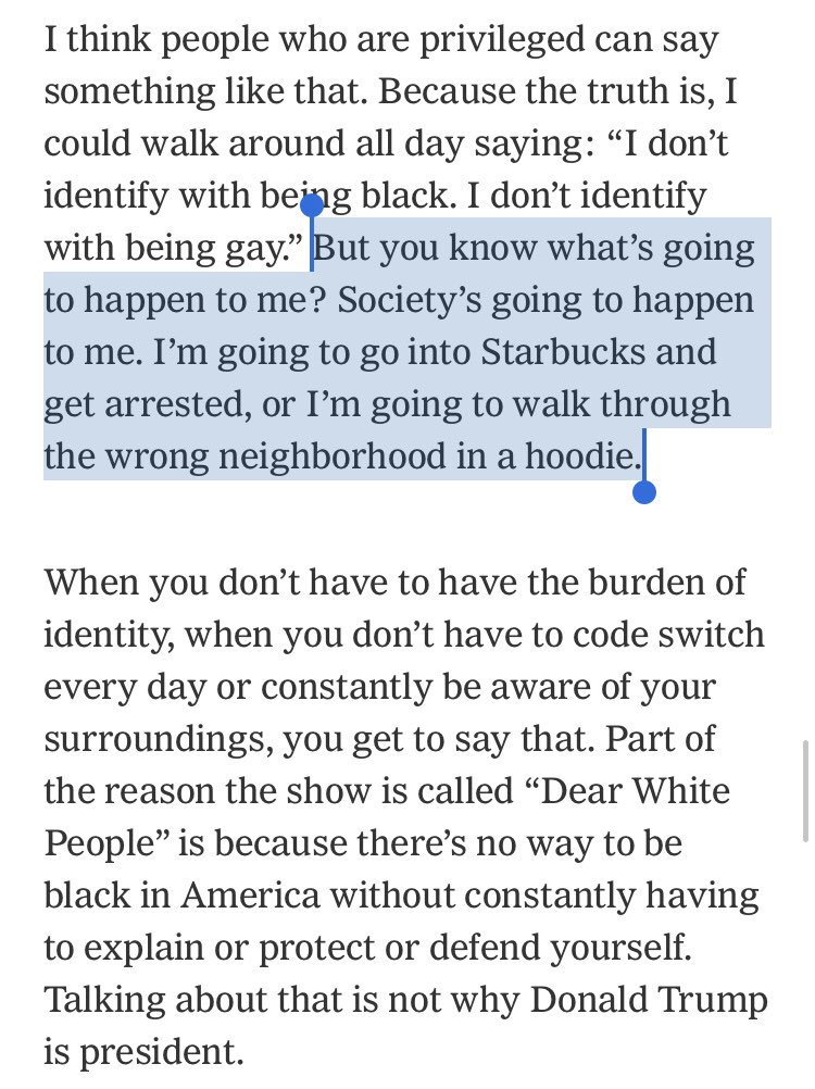 """Had a chat with Justin Simien about """"Dear White People"""" season 2 and why he won't yield on """"identity politics."""" nytimes.com/2018/05/02/art…"""