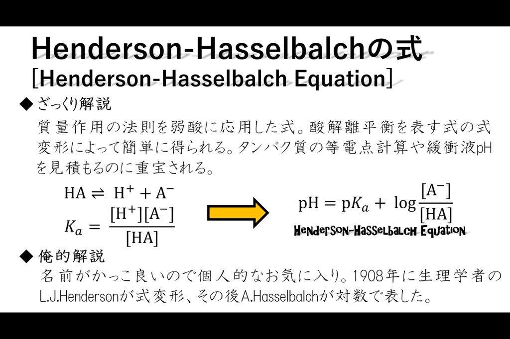 ヒ 式 ハッセル バル ヘンダーソン の