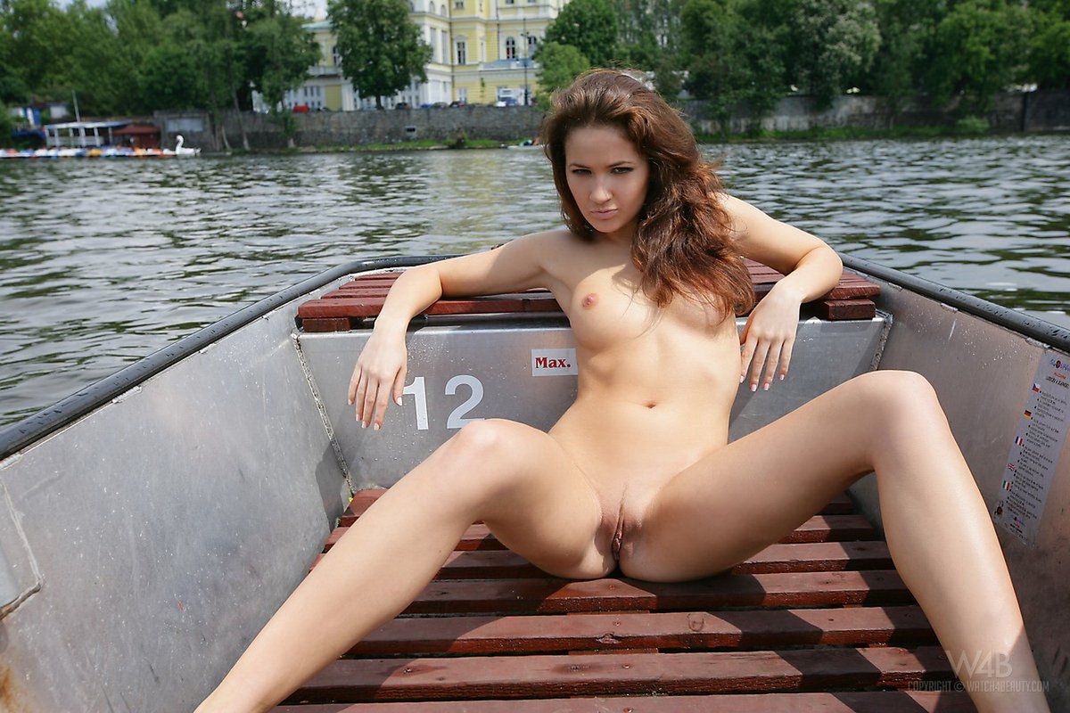 nice naked woman on boat