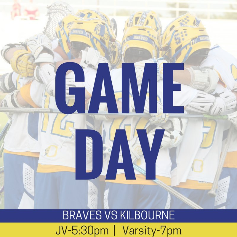 🤷🏼‍♀️WHAT DAY IS IT? #GAMEDAY 📅 Tonight @Braves_Lacrosse vs @KilbourneLax   ⌚️5:30 JV/7p Varsity 📍Worthington Kilbourne High School