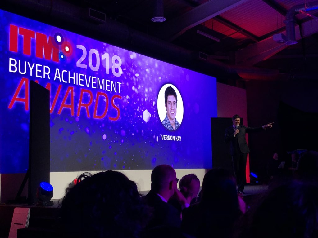 The hilarious Vernon Kay takes the stage for the Buyer Achievement Awards #ITMConference #ITMTweets @ITMtweets<br>http://pic.twitter.com/YhY0iwzNGS