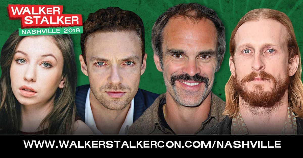 Walker Stalker Con Nashville is BACK! Next weekend, meet your favorites from #TheWalkingDead, like @katelynnacon @RossMarquand @StevenOgg and @austin_amelio! Get your tickets NOW! buff.ly/2G6YTt6
