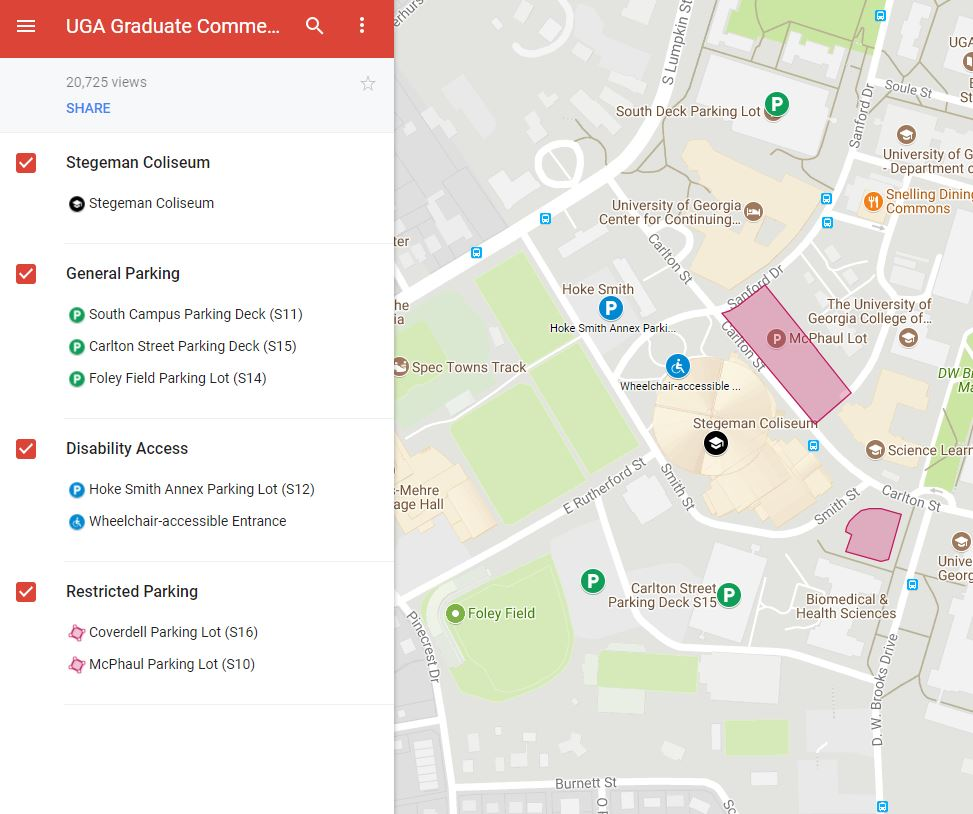 Uga Health Sciences Campus Map.Uga Graduate School On Twitter Graduation Tip Parking For