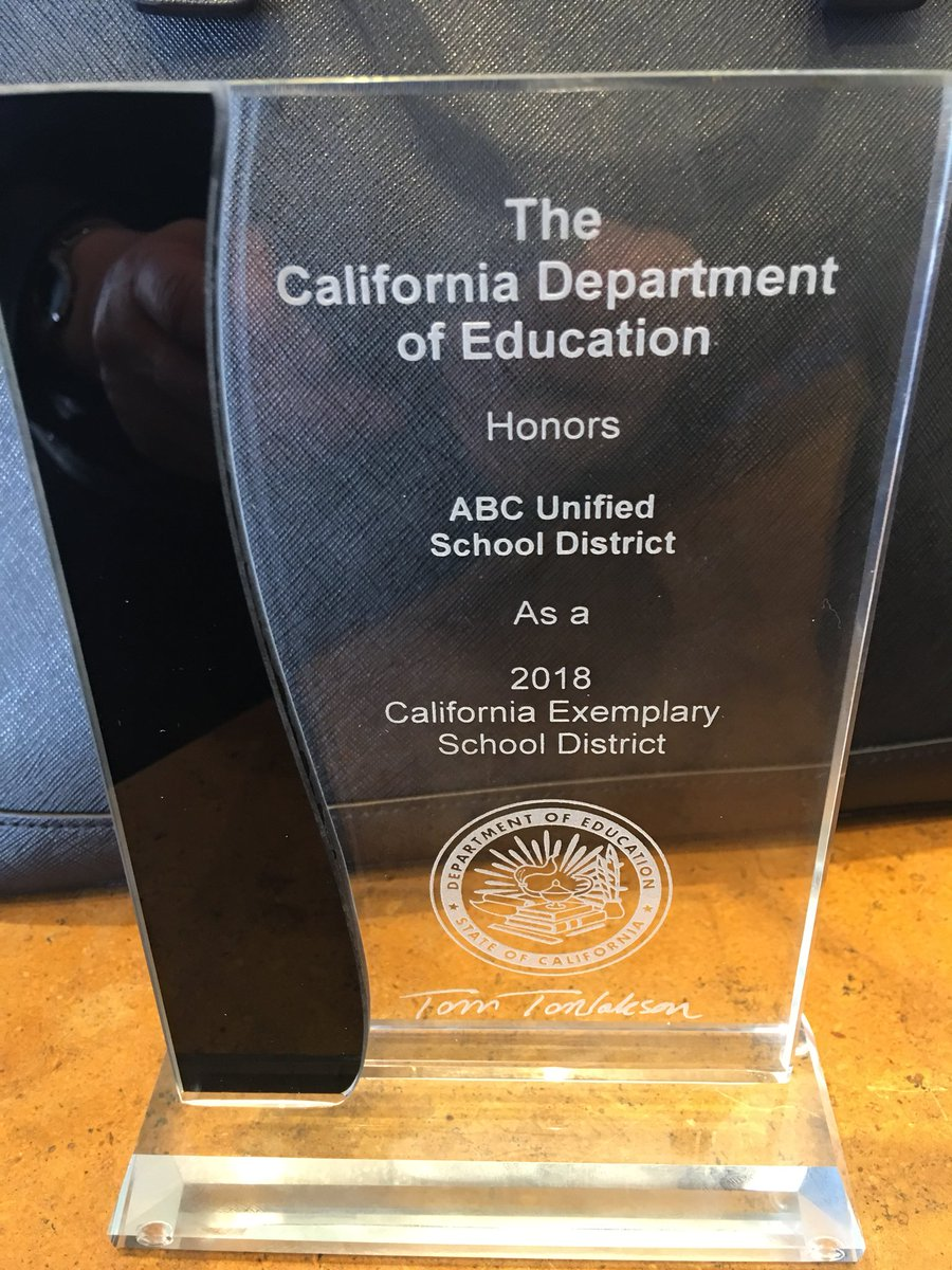 Out Of 80 School Districts In LA County We Were Selected For This Great Recognition What An Honor Congratulations ABCUSD Pictwitter W6z2jqdreS