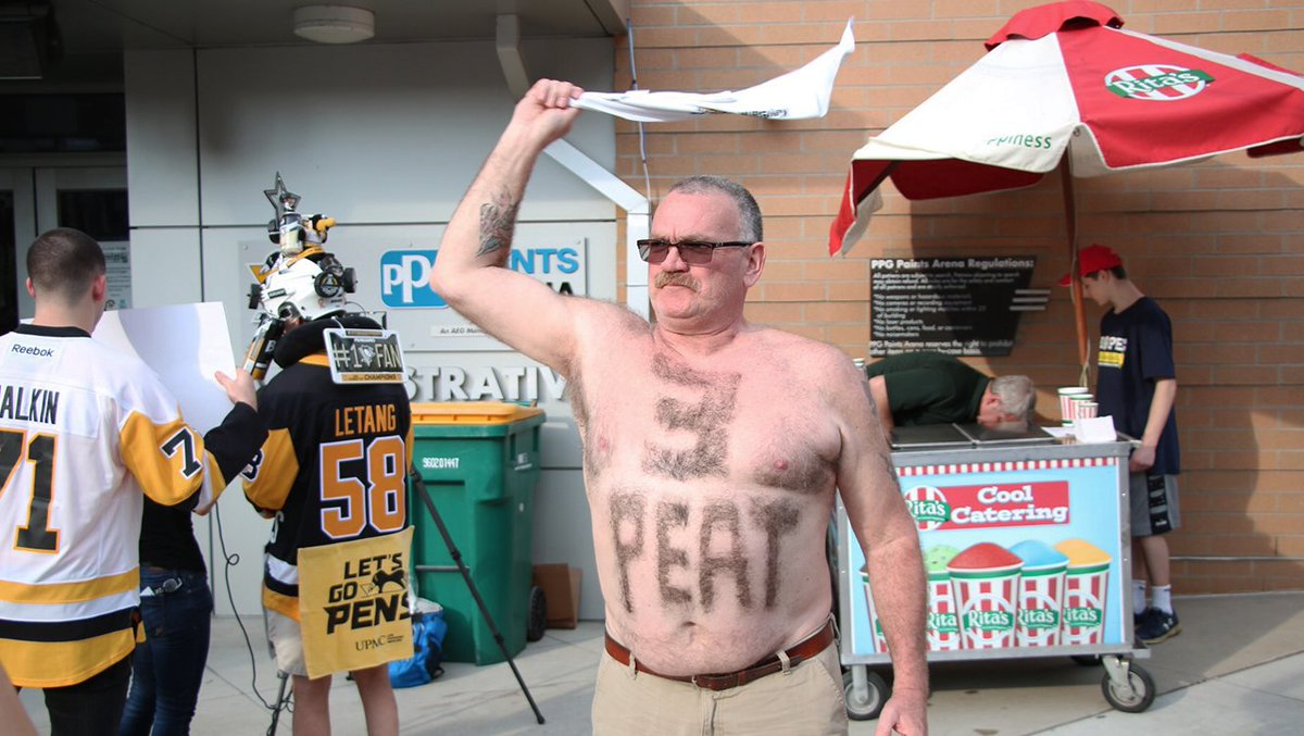 This Penguins Fan Showed Off His Diehard Support By Shaving A Message Into His Chest Hair