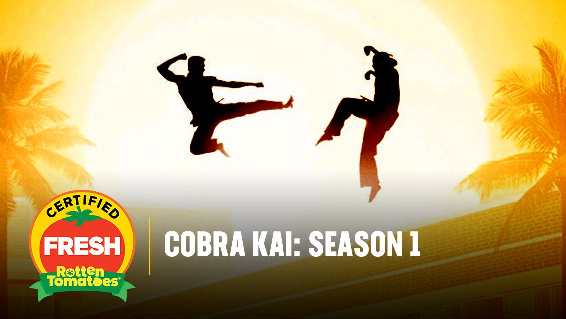 #CobraKai Season 1 is now #CertifiedFresh at 100% on the #Tomatometer, with 21 reviews: https://t.co/tt3apqTzKv