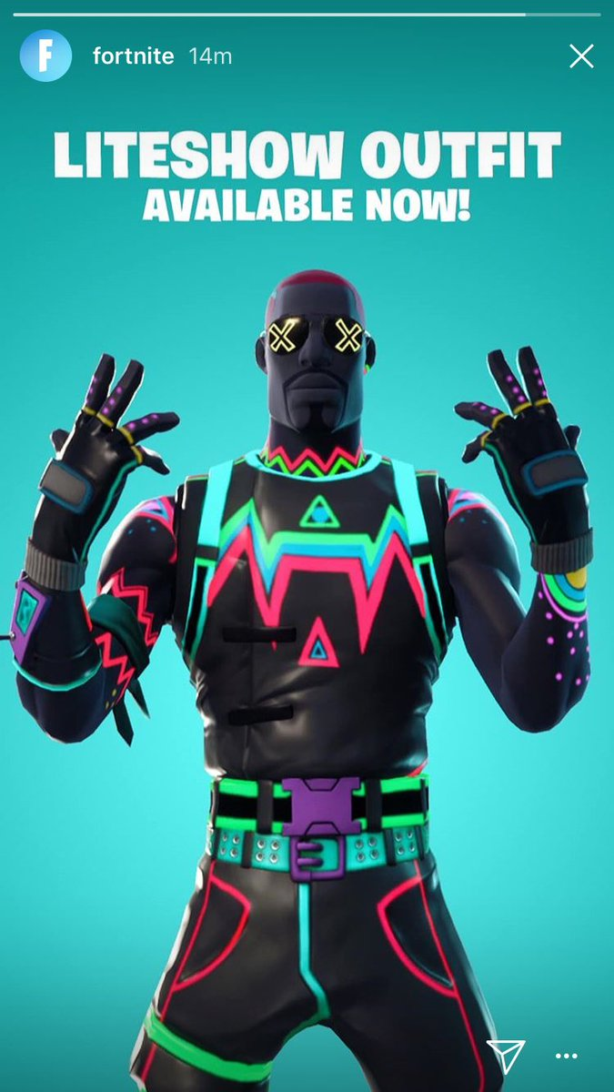 Fortnite on twitter glow away the competition new liteshow outfit and glow stick pickaxe - Fortnite liteshow ...