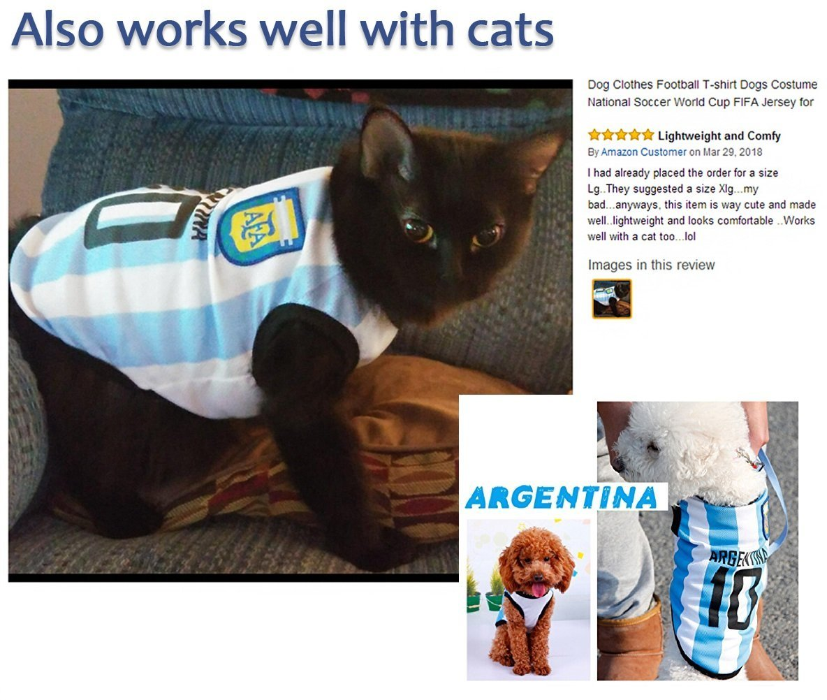 d8dcd997e ... Search Dog Clothes Football T-shirt Dogs Costume National Soccer World  Cup FIFA Jersey for Pet + Country on amazon walmart  pic.twitter.com 0clUKYzGnR
