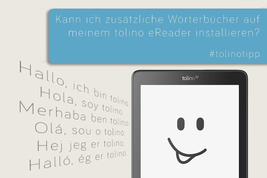 Fremdsprachige EBooks Lassen Sich Kinderleicht Mit Deinem Tolino EReader Lesen