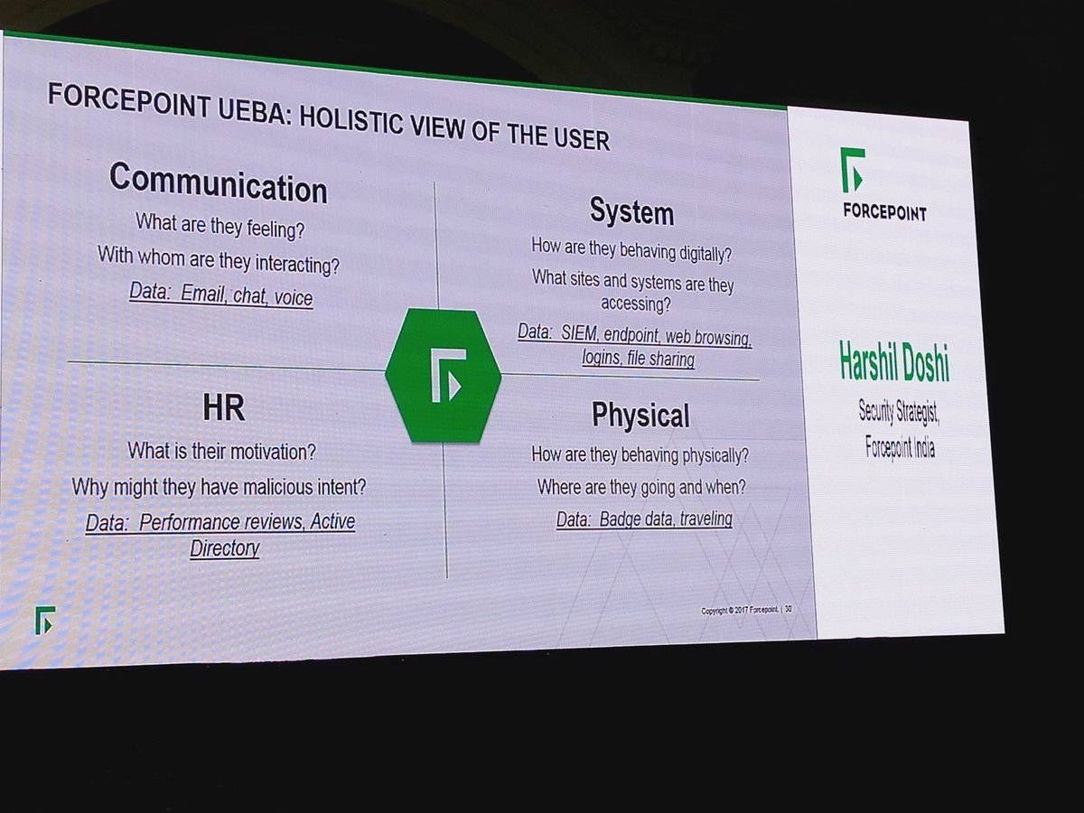 What aaallll  Forcepoint  UEBA can do  -  FSEDay2018  CyberSecurity   Securitypic.twitter.com E0U0mFzOBW ccea0a95faf2
