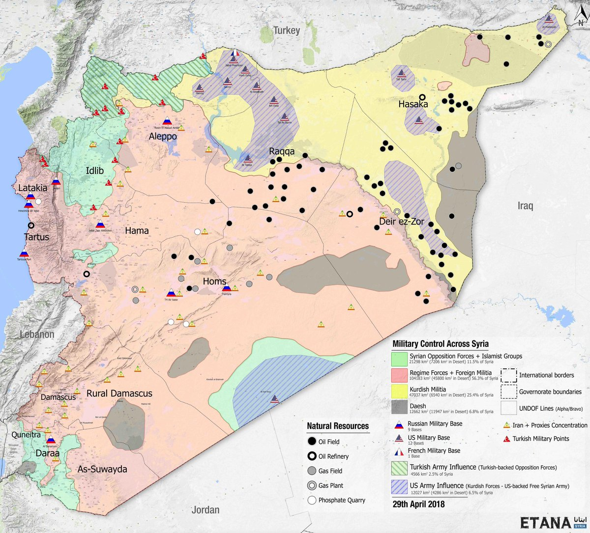 Smm Syria On Twitter Excellent Reference Map Of Syria Showing - Us-oil-fields-map