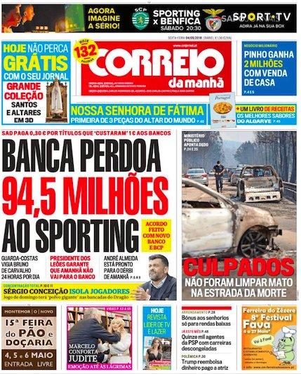 Sapo On Twitter Banca Perdoa 945 Milhões Ao Sporting Culpados Não