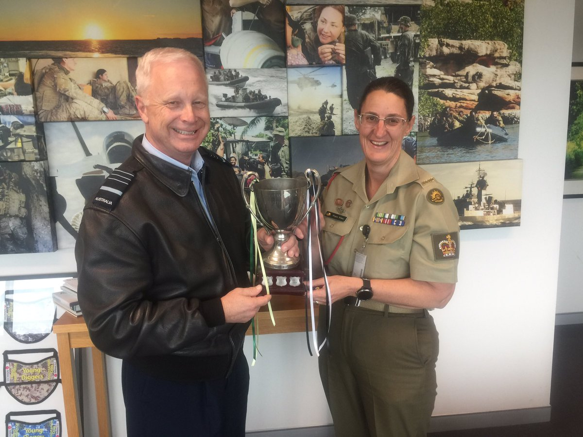 Congratulations to #yourADF women's netball team on winning the ANZAC Trophy in a 3 match series against @NZDefenceForce. I'll take care of the cup @CDF_NZ!