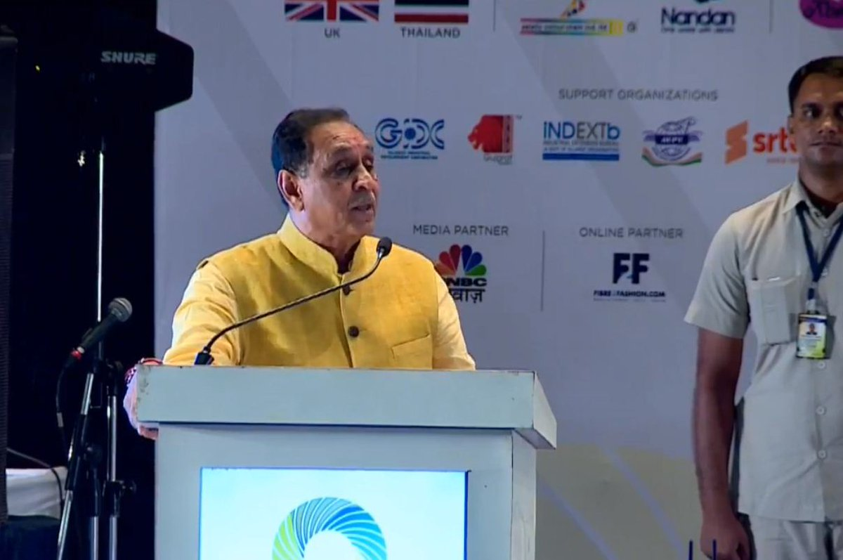Why depend on South? We should have enough weaving units in Gujarat to complete the entire textile chain: Rupani