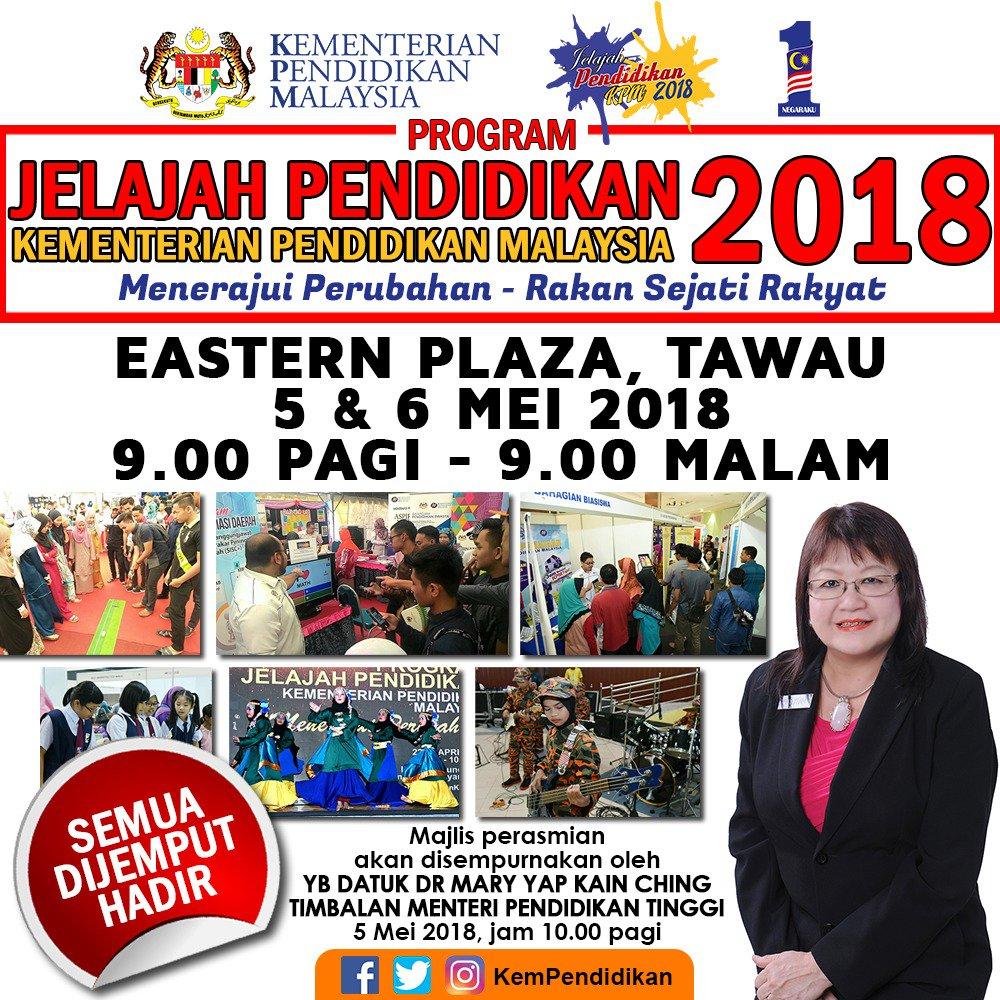 Asia E University On Twitter Are You In Tawau Sabah Wondering About Further Education Don T Missed Out Jelajah Pedidikan Kementerian Pendidikan Malaysia 2018 Will Be Held At Eastern Plaza Tawau Sabah 5