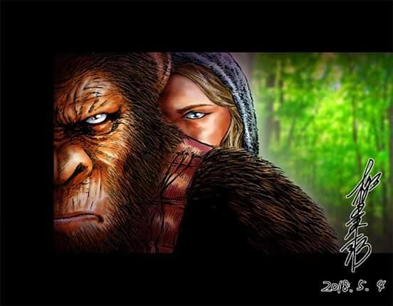 柳田 東一郎 On Twitter 猿の惑星 聖戦記をやっと見たただのcgお