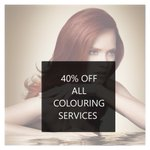 Image for the Tweet beginning: 40% off all colouring services