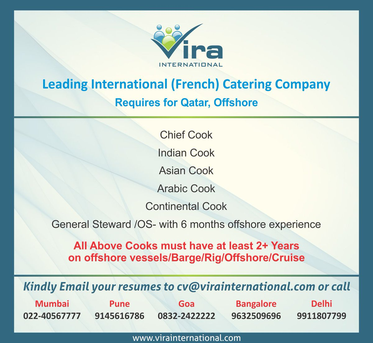 Vira International On Twitter There Are Vacancies In