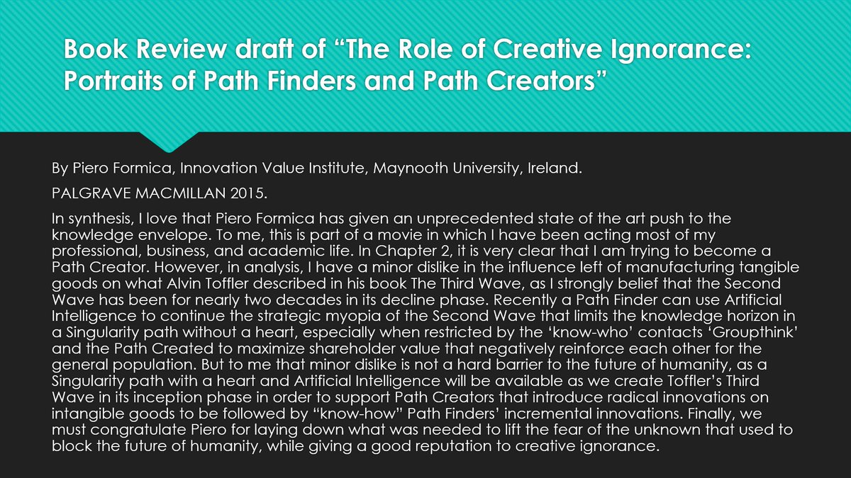 The Role of Creative Ignorance: Portraits of Pathfinders and Path Creators
