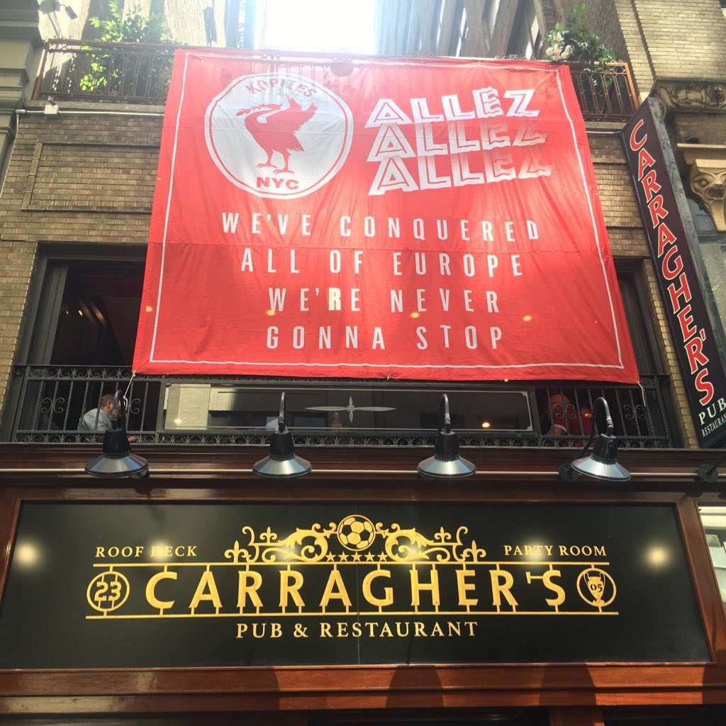 ******Important Information****** Saturday May 26 2018 Champions League Final Watch Party Information at Carraghers:  —Doors open at 10:00am Saturday May 26. Max occupancy capacity could be reached as early at 1pm. Get in early!