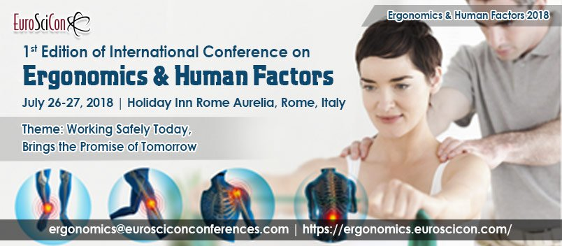 Meet & greet the famous #Physiotherapists in and around the world #PhysicalTherapy #MuscleJoints #Exercisetherapy #JointMobilization #ManualTraction #Electrotherapy #Acupuncture #TransverseFrictions #MyofascialRelease #Taping International Conference on Ergonomics & Human Factors