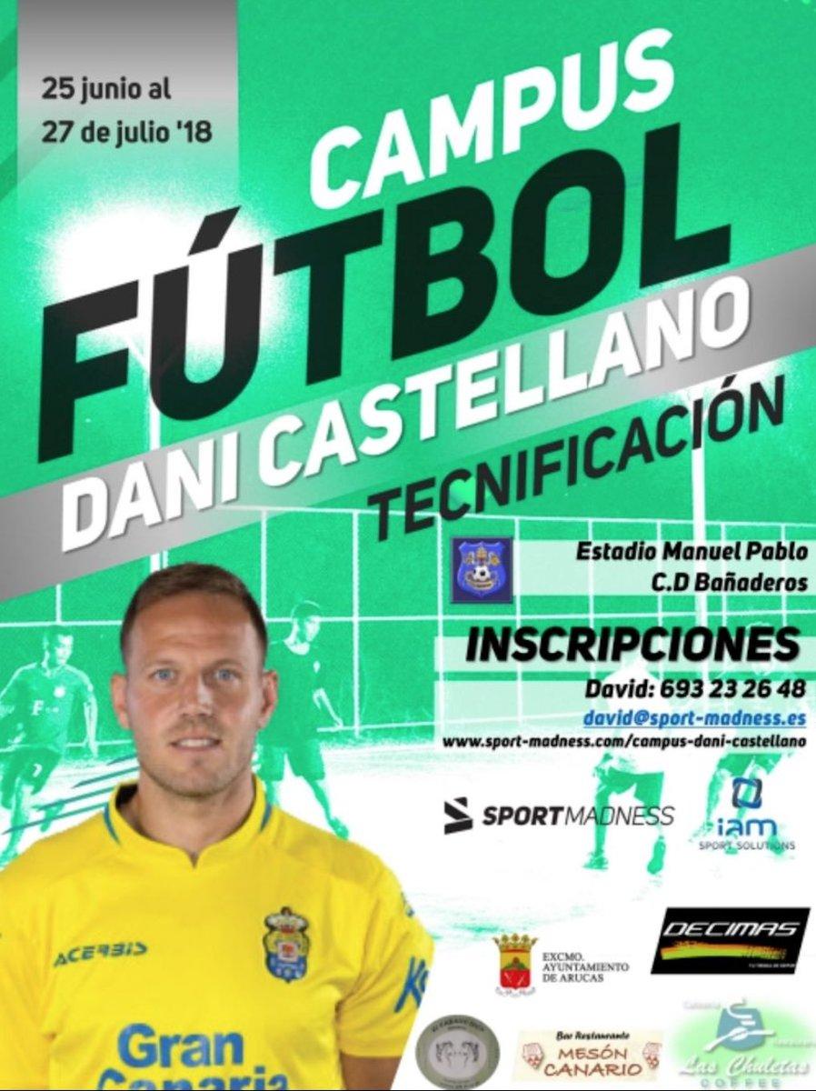 Hola a todos! Presento la primera edición del Campus de Fútbol Dani Castellano. Les esperamos a todos este verano!! bit.ly/2FGt8VK #CampusDaniCastellano 🐥⚽️