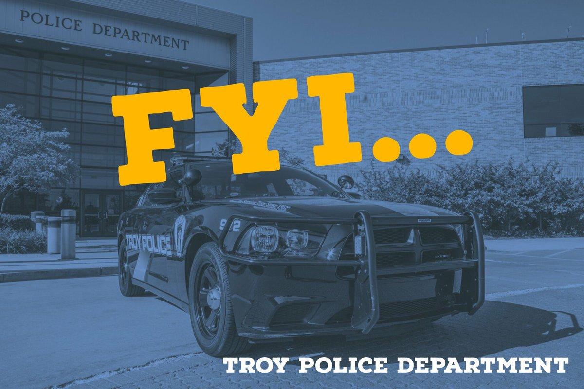 Troy Police Dept  on Twitter: