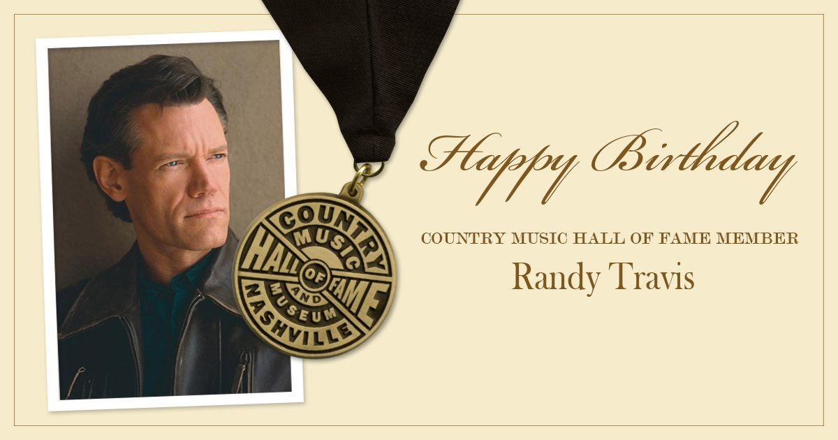 Help us wish Country Music Hall of Fame member @randytravisa very happy birthday!