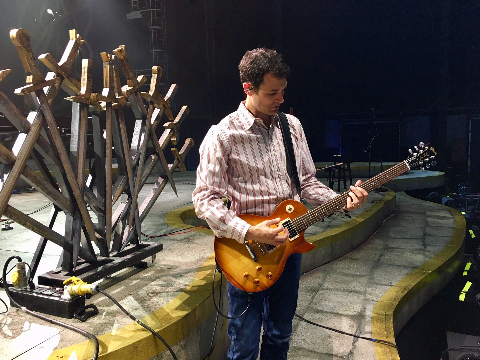 Send a raven. @Djawadi_Ramin gets ready for the #GameofThrones @Facebook Live. Watch at https://t.co/I9sZka44dX https://t.co/Oo16E61pWp